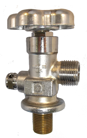 GV Valves - Straight Thread - Chrome Plated
