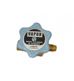 """1/4"""" SAE flare outlet; 3/8"""" inlet; 600 PSI STDP, w/ outlet cap"""