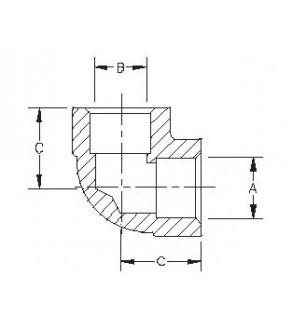 Elbow 1.053 - 1.057 x 1.053 - 1.057 4500 PSI WP