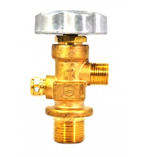 """CGA 350 outlet; 1.125"""" UNF inlet, 165°F"""