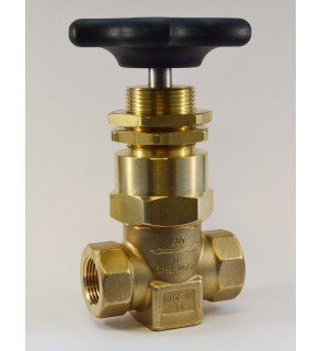 "SHERWOOD 630 HIGH PRESSURE SHUT-OFF VALVE, 3/4"" NPT PORTS, MAXIMUM WORKING PRESSURE 6000 PSI, CLEANED PER CGA G-4.1, PANEL MOUNT"