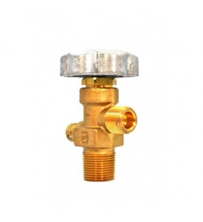 Sherwood Brass Diaphragm Packless CGA 350 outlet, 3/4, 212 deg F, 3775 PSI pressure relief device
