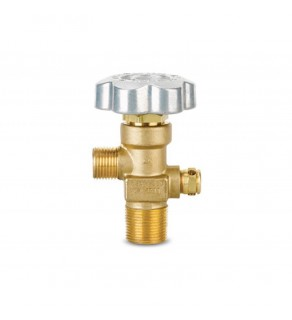Sherwood Brass Diaphragm Packless CGA 350 outlet, 3/4, 212deg  F, 3775 PSI pressure relief device, 7 thread oversize