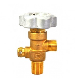 """Sherwood Brass Diaphragm Packless CGA 350 outlet; 3/4"""" NGT inlet, 165 deg F, 4000 PSI pressure relief device"""