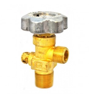 "Sherwood Brass Diaphragm Packless CGA 540 outlet; 3/4"" NGT inlet, 3000 PSI pressure relief device"
