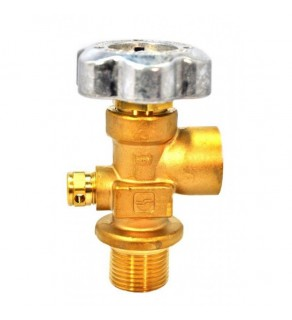 "Sherwood Brass Diaphragm Packless CGA 590 outlet; 1.125"" UNF inlet, 3360 PSI pressure relief device"