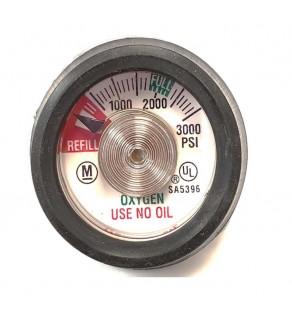 Cylinder Contents Gauge For Oxygen Cylinders