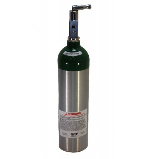 Medical Oxygen with post valve with on/off  toggle - 6.0 cu ft
