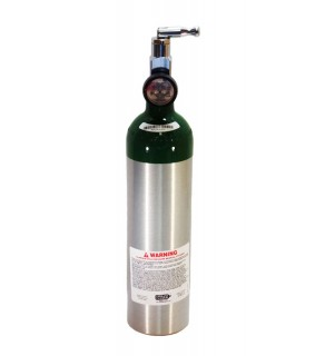 Medical Oxygen with post valve with on/off  toggle. With pressure gauge - 6.0 cu ft