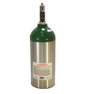 Medical Oxygen with post valve - 9.0 cu ft