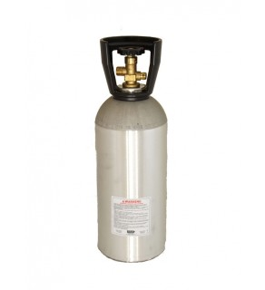 10 LB - CO2 (Carbon Dioxide) cylinder with valve, shipped empty