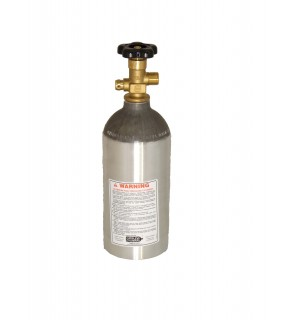2.5 LB - CO2 (Carbon Dioxide) cylinder with valve, shipped empty