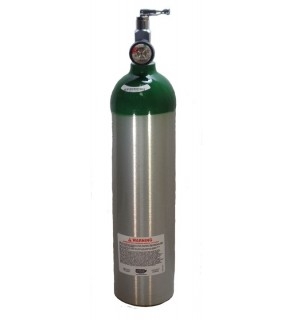 Medical Oxygen with post valve, on/off  toggle, with Pressure Gauge - 15 cu ft