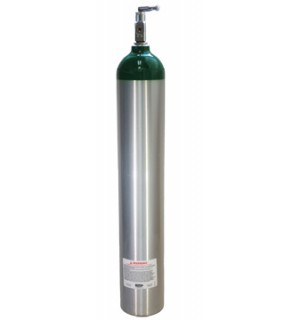 Medical Oxygen Cylinder Tank w/post Valve And on/off Toggle (E Size 24 CF)
