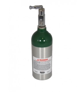 Medical Oxygen with post valve with on/off  toggle - 4.0 cu ft