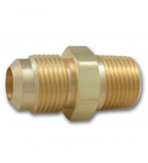 "Flare Tubing Adaptor for Refrigerants, CGA 165 Male, 1/4 Flare x 1/8"" MNPT"""