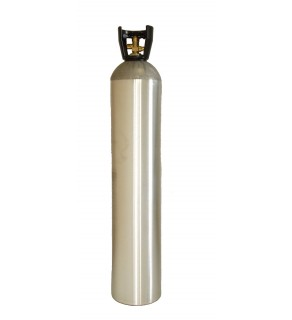 Industrial Gas Cylinder with CGA 580 valve inserted - 122 cu ft