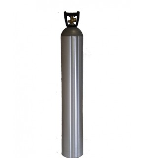 Industrial Gas Cylinder with CGA 580 valve inserted - 150 cu ft
