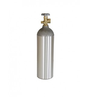 Industrial Gas Cylinder with CGA 580 valve inserted - 22 cu ft