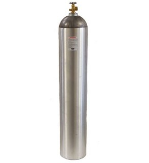 Industrial Gas Cylinder with CGA 580 valve inserted - 265 cu ft