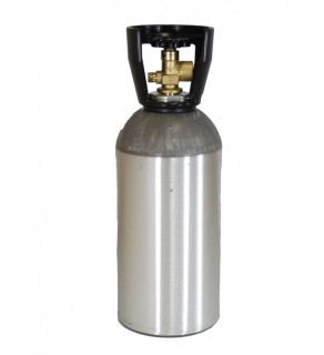 Industrial Gas Cylinder with CGA 580 valve inserted - 33.7 cu ft