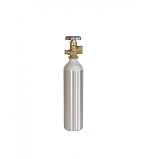 Industrial Gas Cylinder with CGA 580 valve inserted - 6.0 cu ft