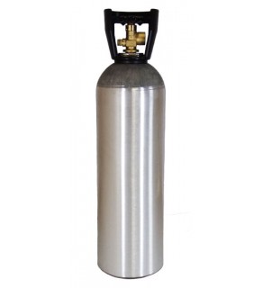 Industrial Gas Cylinder with CGA 580 valve inserted - 60 cu ft