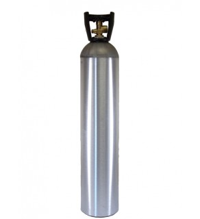 Industrial Gas Cylinder with CGA 580 valve inserted - 90 cu ft