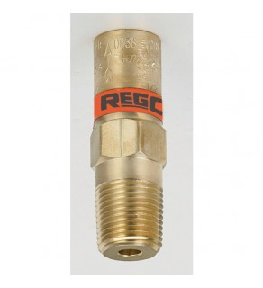 1/2 NPT, 135 PSI, Brass ASME Relief, Fluorosilicone with Drain Hole