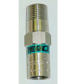 1/4 NPT, 425 PSI, Stainless Steel ASME Relief, PTFE