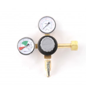 Taprite Primary CO2 Keg Brass Beer Double Gauge Regulator