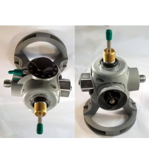 For Use with Aluminum Cylinders - Integrated Oxygen Valve and Regulator Combination With Master Shut Off Valve with DISS Constant Flow Connection