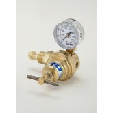"""CGA 580 x 1/4"""" FNPT With Gauge, Delivery Range 100 - 350 PSIG for CO2"""
