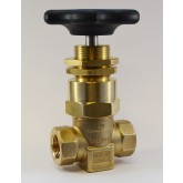 "SHERWOOD 630 HIGH PRESSURE SHUT-OFF VALVE, 1/2"" NPT PORTS, MAXIMUM WORKING PRESSURE 6000 PSI, CLEANED PER CGA G-4.1, PANEL MOUNT"