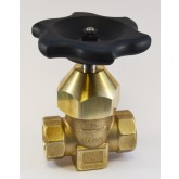"SHERWOOD 630 HIGH PRESSURE SHUT-OFF VALVE, 1-11 1/2"" NPT PORTS, MAXIMUM WORKING PRESSURE 6000 PSI, CLEANED PER CGA G-4.1"