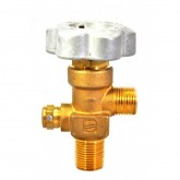 "Sherwood Brass Diaphragm Packless CGA 350 outlet; 3/4"" NGT inlet, 165 deg F, 4000 PSI pressure relief device"