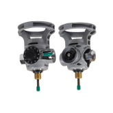 FOR USE WITH ALUMINUM CYLINDERS - INTEGRATED OXYGEN VALVE AND REGULATOR COMBINATION WITH STANDARD FILL SHUT OFF VALVE.