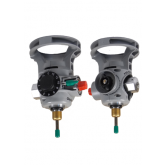 FOR USE WITH ALUMINUM CYLINDERS - INTEGRATED OXYGEN VALVE AND REGULATOR COMBINATION WITH STANDARD FILL SHUT OFF VALVE, WITH DISS CONSTANT FLOW CONNECTION